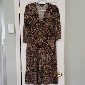 MSK Woman faux wrap dress.